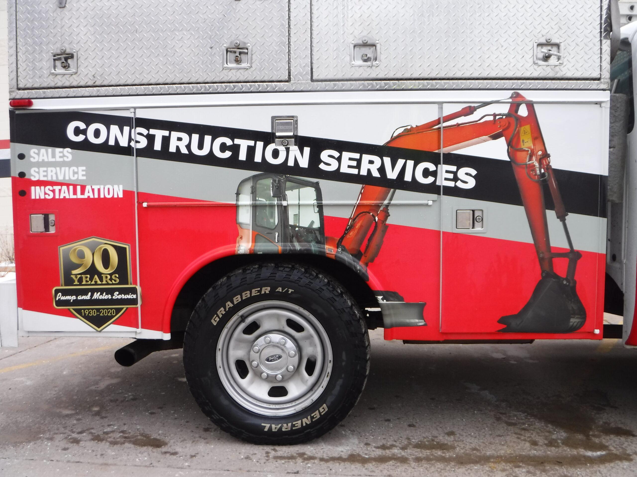 close up construction truck